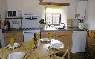 The Byre - Kitchen area